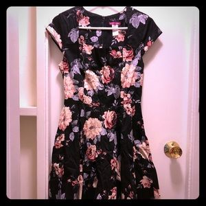 ModCloth Dress In Rose Blooms